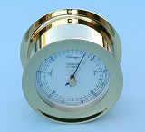 Barometer in Polished Solid Brass Case