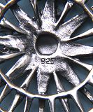Detail of 925 Stamping on Back of Pendant