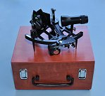 Stanley London Mark 3 Sextant on Beautiful Hardwood Case
