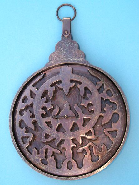 Large Solid Brass Astrolabe