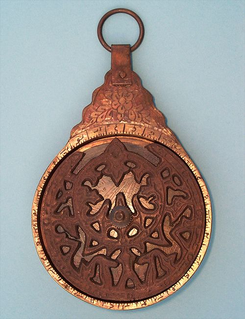 Small Solid Brass Astrolabe