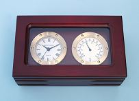 Top View of Clock and Thermometer