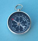 Small Black Open Face Compass