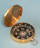 Brass-Colored Compass