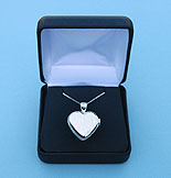 Elegant Heart Design Silver Compass Locket with Silver Chain in Hinged Gift Box