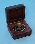 Small Square Compass with Lid Open