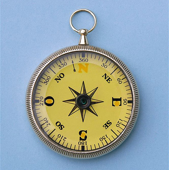 Open Face Mariner's Compass with Beveled Glass