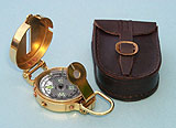 Military Lensatic Compass with Leather Case